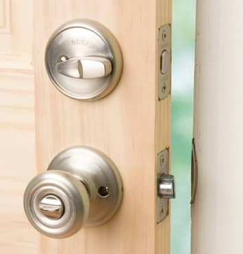 Lockset on Door