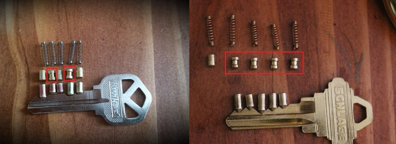 Security Pins Kwikset and Schlage